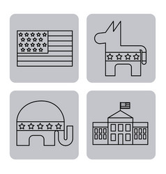 usa related assorted icons image vector image vector image