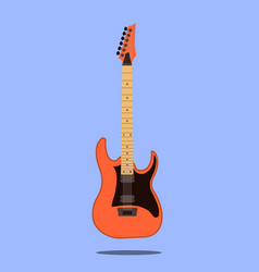electric guitar icon isolated on blue background vector image