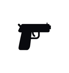 isolated handgun icon pistol element can vector image