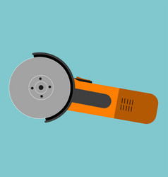 angle grinder vector image vector image