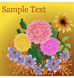 Background with garden flowers vector image vector image
