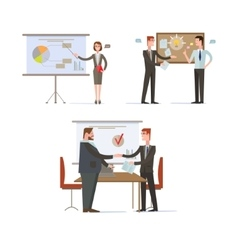 Businessman Presentations and Charts vector image