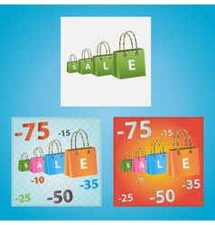 Cards on discounts vector image vector image