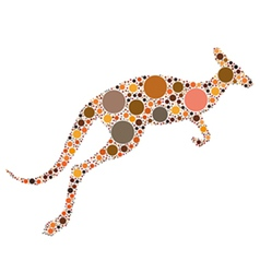dotted kangaroo vector image vector image