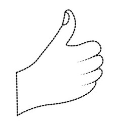 hand thumb up like finger gestur vector image