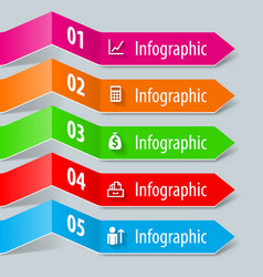 Infographic paper vector image vector image