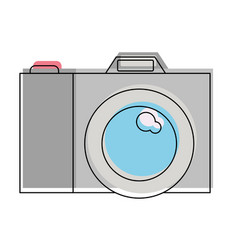 photo camera icon in watercolor silhouette vector image