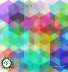 Abstract Hexagon Colorful Background vector image vector image