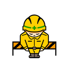 japanese under construction sign vector image vector image