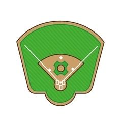 stadium baseball field green isolated vector image