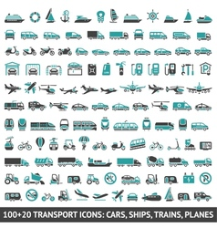100 AND 20 Transport icon vector