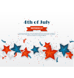 4th of july - independence day of america vector image