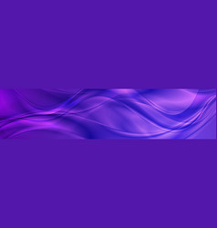 abstract shiny bright violet waves banner design vector image