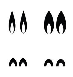 animal ears icons vector image
