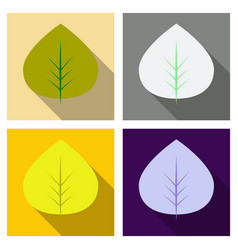 autumn leaves isolated on colour background vector image