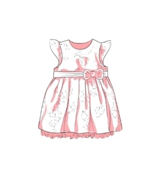 Baby Dress Sketch vector image