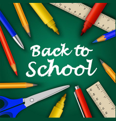 Back to school concept background realistic style vector