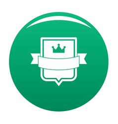 Badge emperor icon green vector