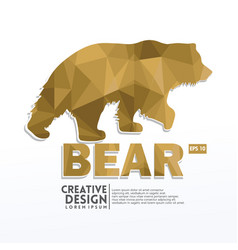 bear geometric paper craft style vector image
