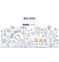 Big Idea Doodle Concept vector