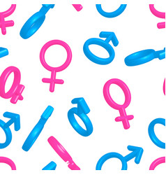 bright colorful men and women gender signs on vector image