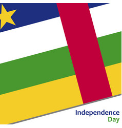 central african republic independence day vector image