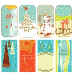christmas retro backgrounds vector image