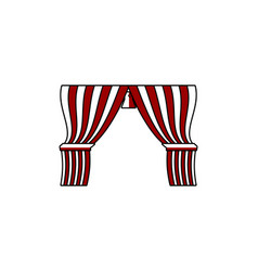 circus curtain logo designs inspiration isolated vector image
