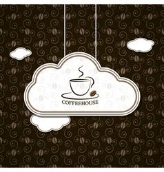 Coffee background with pattern vector