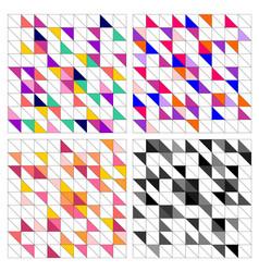 colorful tile background set vector image