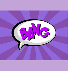 comic speech bubble with text bang layout vector image