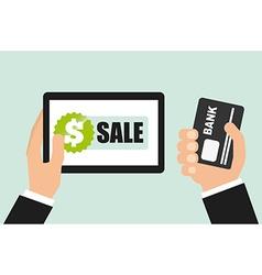 commerce online vector image