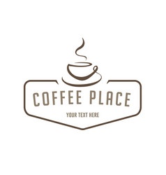concept of coffee logo brown vector image
