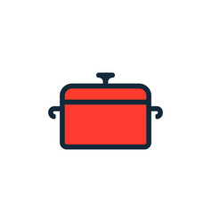 cooking pot flat icon sign symbol vector image