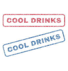 Cool drinks textile stamps vector