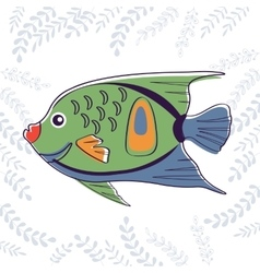 Cute little fish vector image
