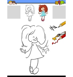 educational task for kids vector image