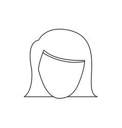 figure face formal woman icon vector image