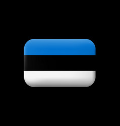 Flag of estonia matted icon and button vector