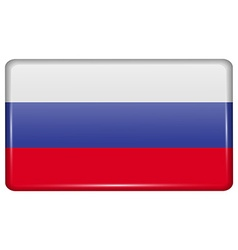 Flags russia in the form of a magnet on vector