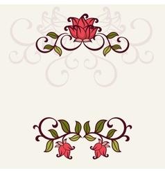 Flourish invitation card vector