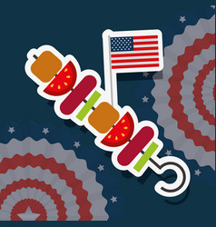 Food american independence day vector