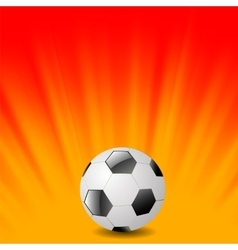 Football Icon on Orange Background vector image