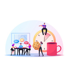 Friends characters meet up in cafe or bar people vector