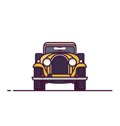front view classic car vector image