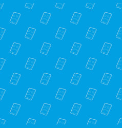 gadget broken pattern seamless blue vector image