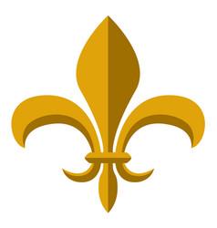 golden fleur de lys symbol vector image