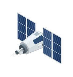 gps satellite flat 3d isometric vector image