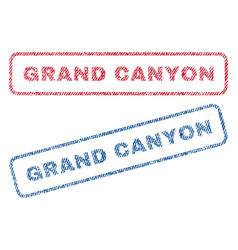 Grand canyon textile stamps vector