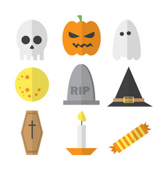 halloween symbol set - in vector image